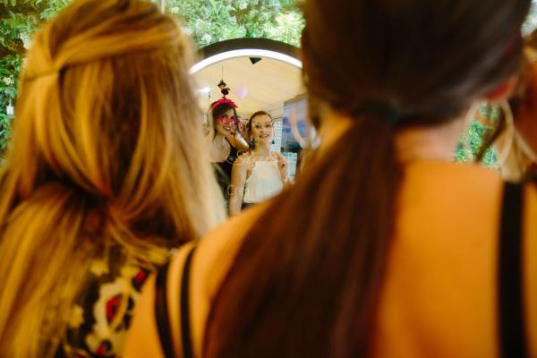 Mirror Loves You Photobooth concept βάφτισης